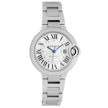 Cartier Stainless Steel Ballon Bleu 33mm Ladies Watch W6920071