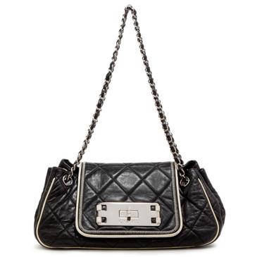 Chanel Black Calfskin Accordion Flap