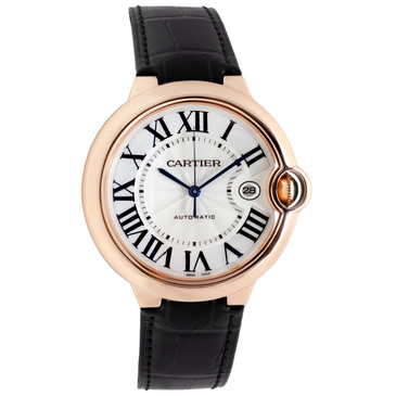 Cartier 18K Pink Gold Ballon Bleu 42mm Automatic Watch WGBB0017