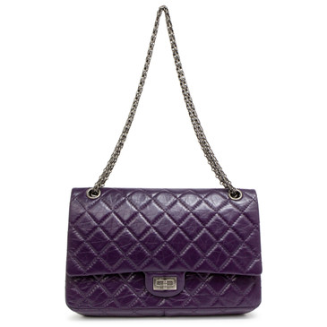 Chanel Purple Aged Calfskin 2.55 Reissue Double Flap 226