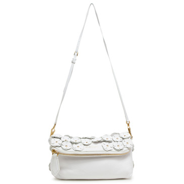 Burberry Prorsum White The Petal Crossbody Bag