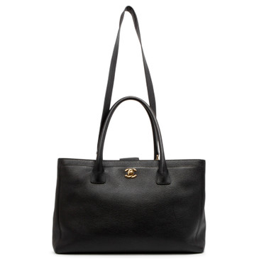 Chanel Black Calfskin Executive Cerf Tote