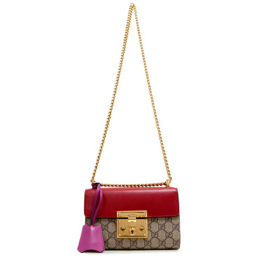 Gucci GG  Supreme Monogram Small Padlock Shoulder Bag