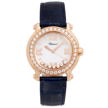 Chopard 18K Rose Gold Happy Diamond Watch 277473-5001