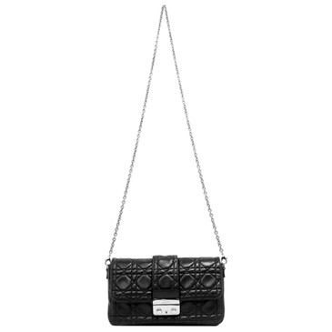 Christian Dior Black Cannage Lambskin New Lock