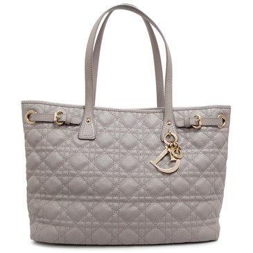 Christian Dior Grey Cannage Canvas Panarea Tote