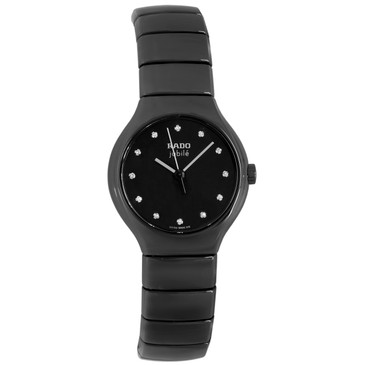 Rado True Diamond Black Ceramic Ladies Watch R27655762