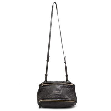 Givenchy Black Tumbled Sheepskin Mini Pandora