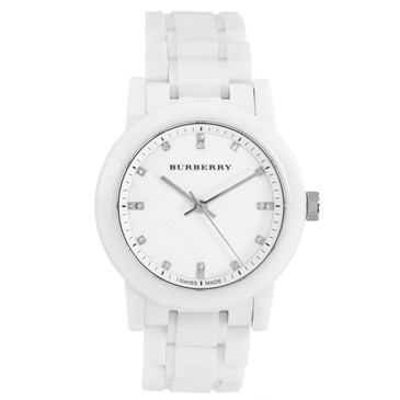 Burberry White Ceramic The City Diamond Watch BU9182