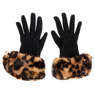 Louis Vuitton Cashmere and Mink Gloves