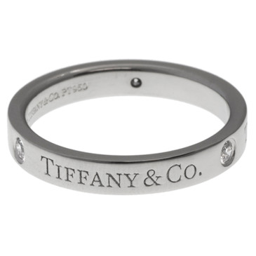 Tiffany & Co 950 Platinum & Diamond Band Ring