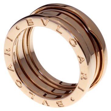Bvlgari B.zero1 Three Band 18k Pink Gold Ring