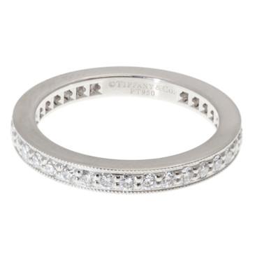 TIffany & Co 950 Platinum Diamond Eternity Ring