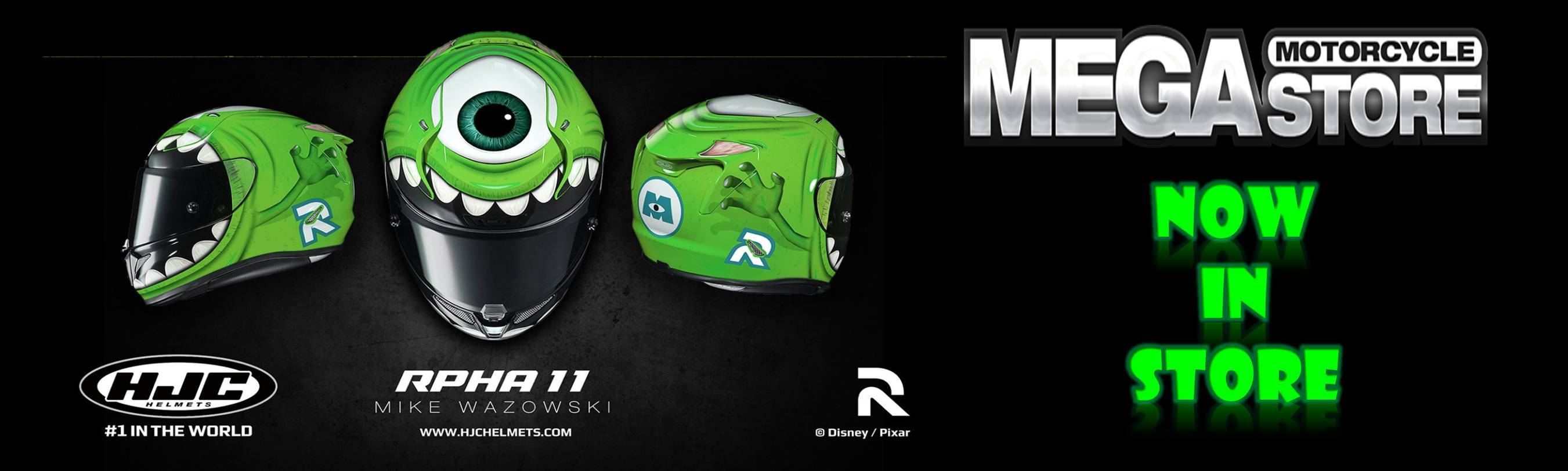 HJC RPHA 11 Monsters Inc Disney Pixar Helmet – Mike Wazowski