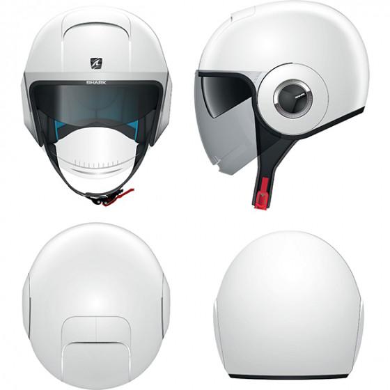 Shark Nano Helmet Blank WHU - White