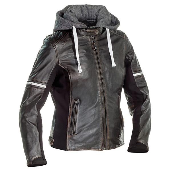 Richa Toulon 2 Ladies Leather Jacket - Anthracite / Brown
