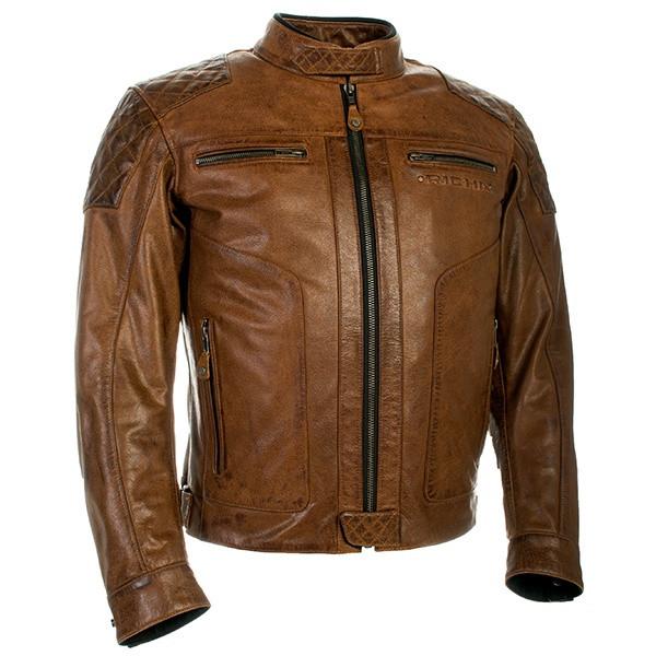 Richa Detroit Leather Jacket - Cognac