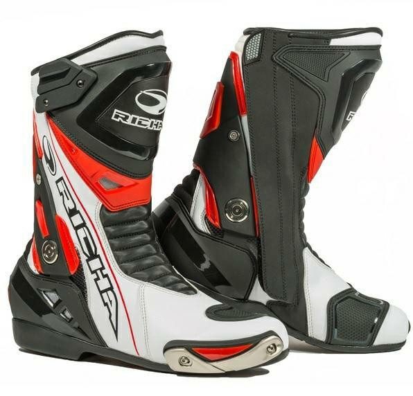 Richa Blade Leather Waterproof Boots - Black / White / Red