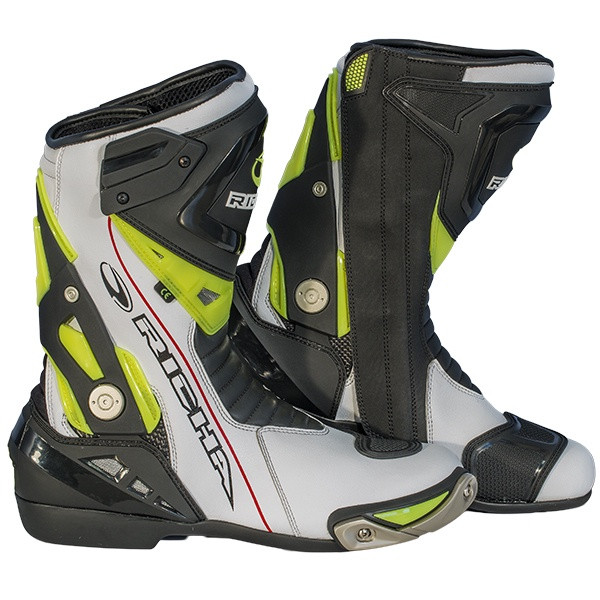 Richa Blade Leather Waterproof Boots - White / Black / Fluorescent