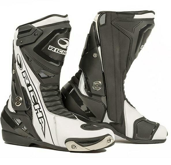 Richa Blade Leather Waterproof Boots - Black / White
