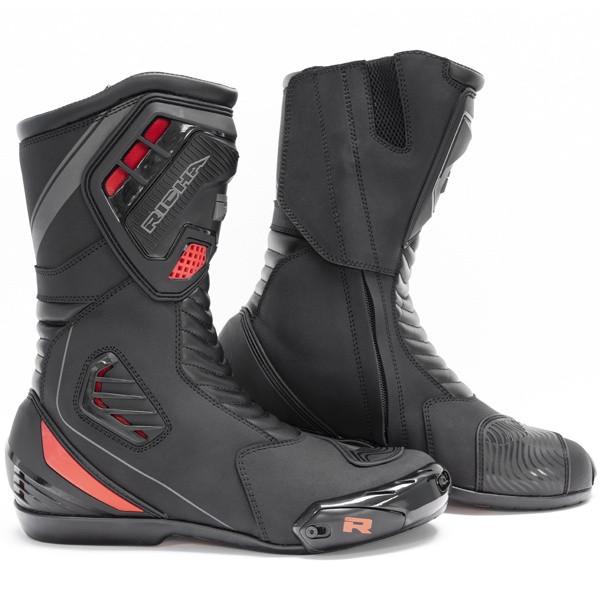 Richa Drift Evo Waterproof Sports Boots - Black / Red / Grey