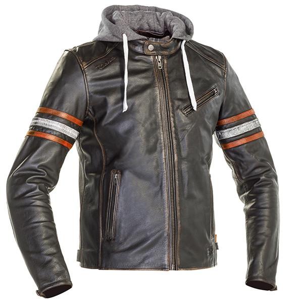 Richa Toulon 2 Men's Leather Jacket - Black / Orange