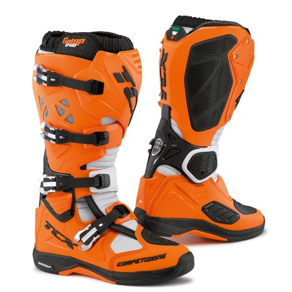 TCX Comp Evo Michelin Motocross Boots - Orange / Black