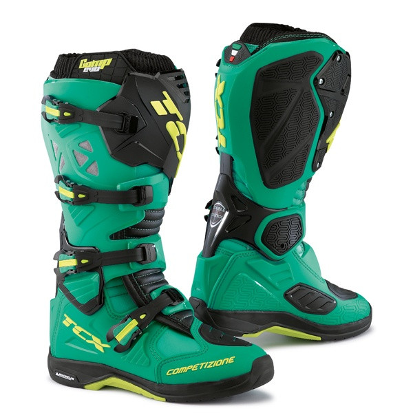 TCX Comp Evo Michelin Motocross Boots - Blue / Lime