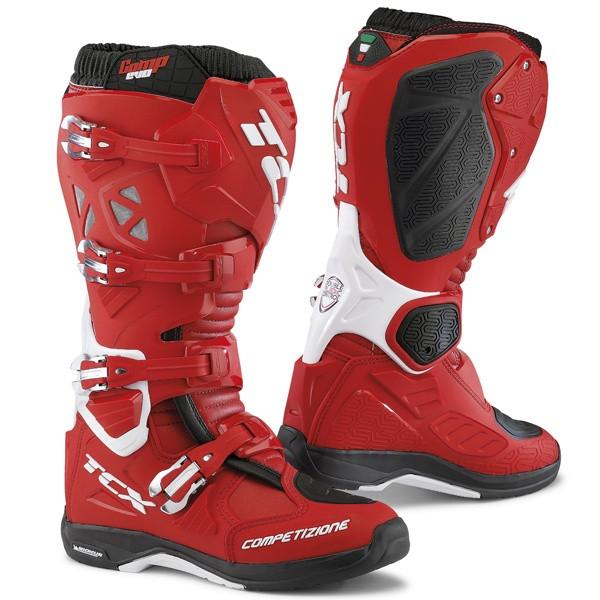 TCX Comp Evo 2 Michelin Motocross Boots - Red / White