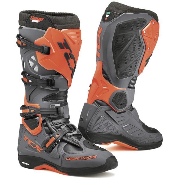 TCX Comp Evo 2 Michelin Motocross Boots - Grey / Orange