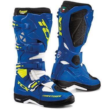 TCX Comp Evo 2 Michelin Motocross Boots - Blue / White
