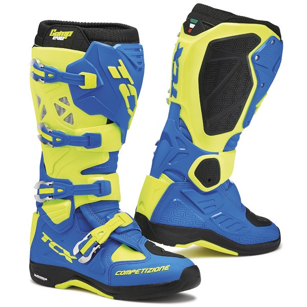 TCX Comp Evo 2 Michelin Motocross Boots - Blue / Yellow