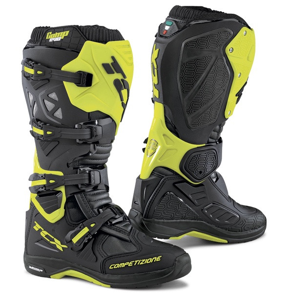 TCX Comp Evo 2 Michelin Motocross Boots - Black / Yellow
