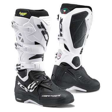 TCX Comp Evo 2 Michelin Motocross Boots - Black / White