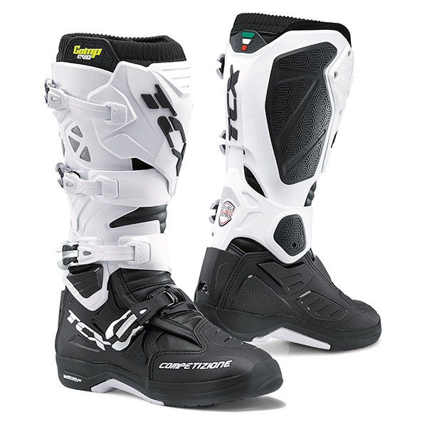TCX Comp Evo 2 Michelin Motocross Boots - Black / White