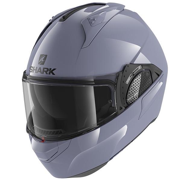 Shark Evo GT Flip Front Helmet Blank S01 - Gloss Grey