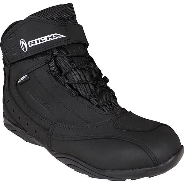 Richa Slick Waterproof Short Boots - Black / Black