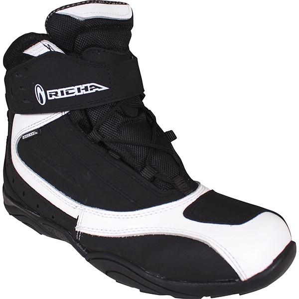 Richa Slick Waterproof Short Boots - Black / White