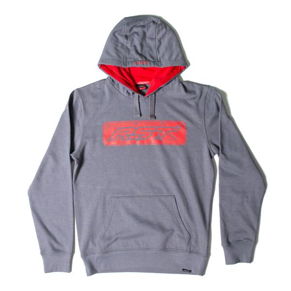 Casual Speedbloc Mens Hoodie Grey / Red