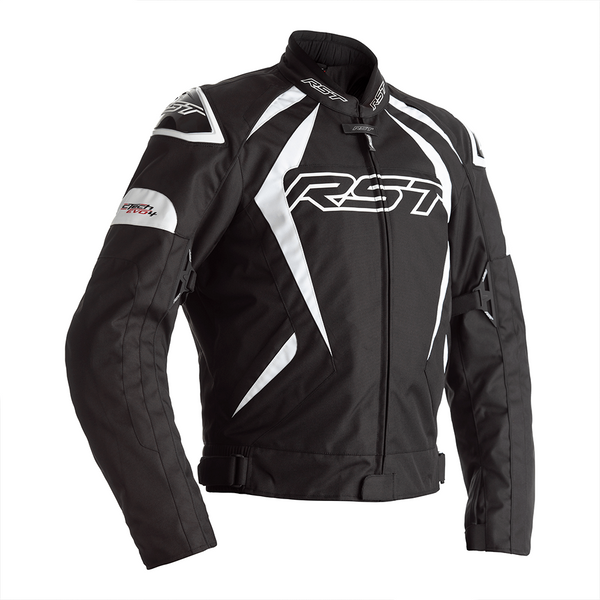 RST Tractech Evo 4 CE Mens Textile Jacket - Black / White