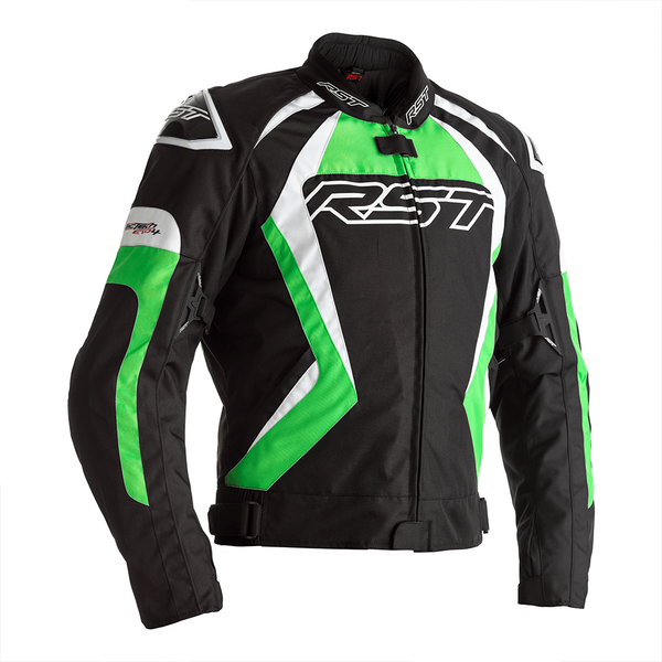 RST Tractech Evo 4 CE Mens Textile Jacket - Black / Green
