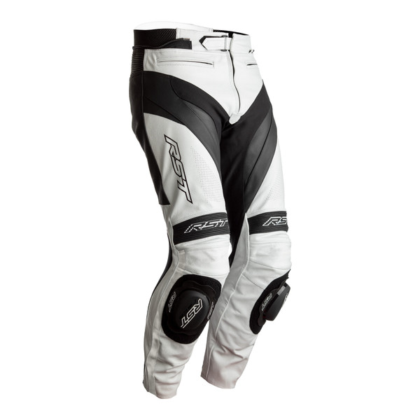 RST Tractech Evo 4 CE Mens Leather Jeans - White / Black