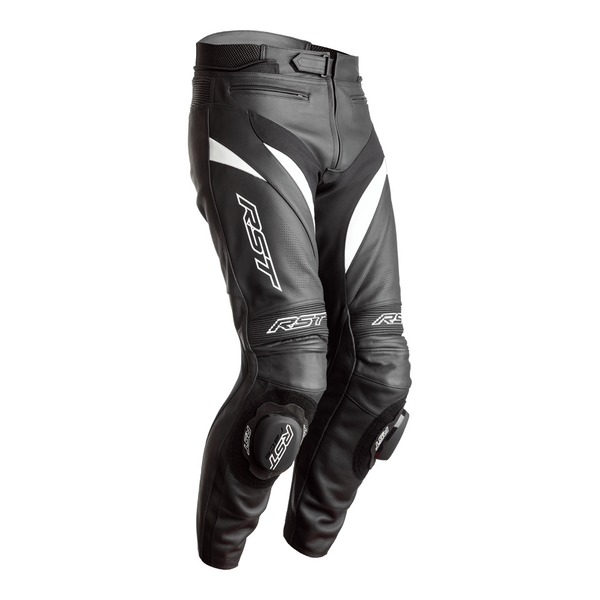 RST Tractech Evo 4 CE Mens Leather Jeans - Black / White