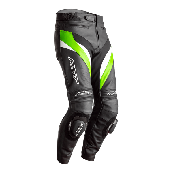 RST Tractech Evo 4 CE Mens Leather Jeans - Black /  Green