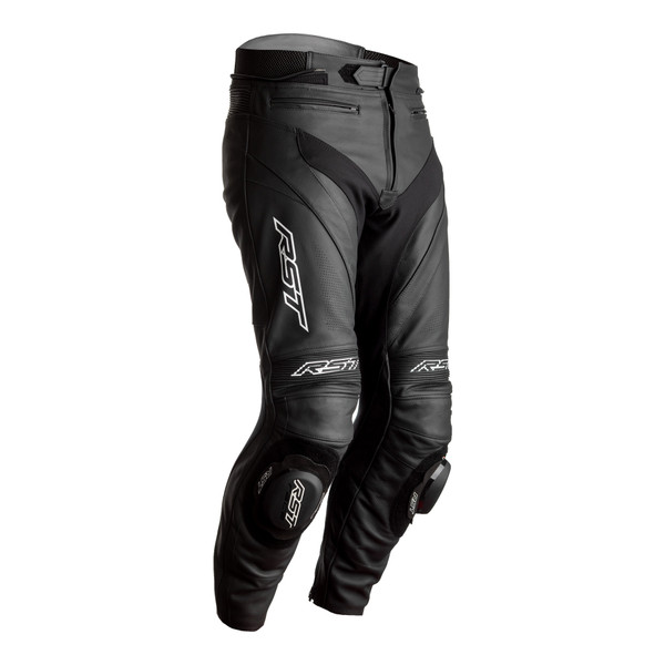 RST Tractech Evo 4 CE Mens Leather Jeans - Black / Black