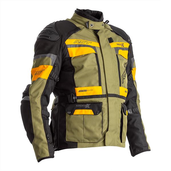 RST Pro Series Adventure-X CE Mens Textile Jacket - Green / Ochre