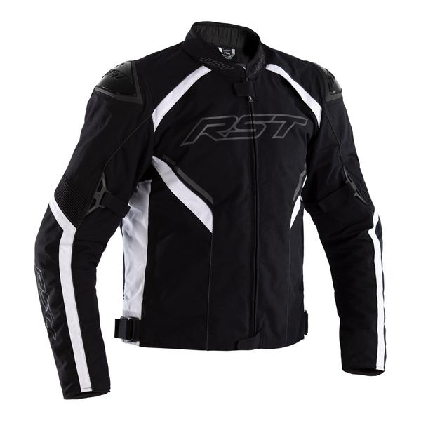 RST Sabre CE Mens Textile Jacket - Black / Black / White