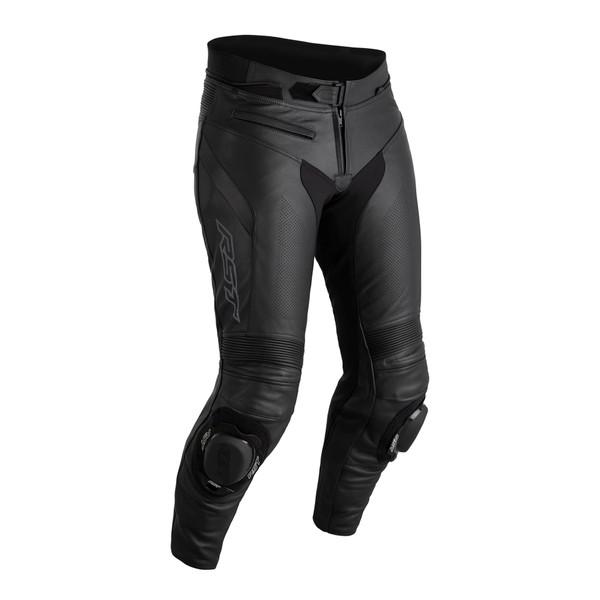 RST Sabre CE Mens Short Leg Leather Jean - Black / Black