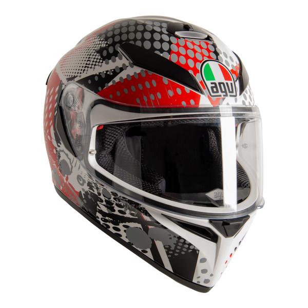 AGV K3 SV-S Full Face Helmet - Pop Black / Red / Grey