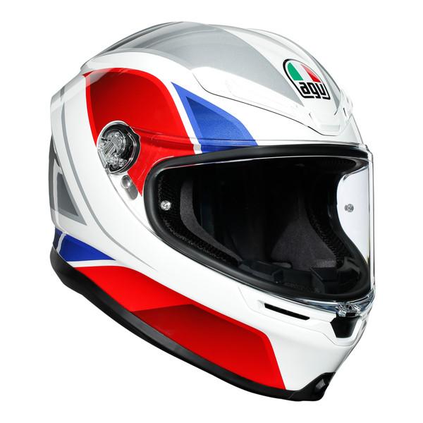 AGV K6 Full Face Helmet - Hyphen White / Red / Blue